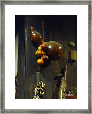 Sake Gourd Bottles From Japan Framed Print by Feile Case