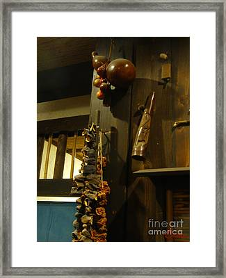 Sake Gourd Bottles With Japanese Decor Framed Print by Feile Case