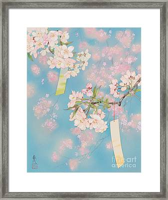 Sakura Framed Print by Haruyo Morita