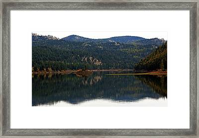 Salam  Lake Framed Print by Larry Stolle
