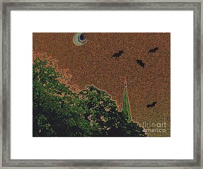 Salem Bat Moon By Jrr Framed Print by First Star Art