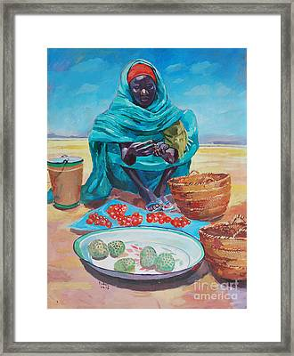 Saleswoman  2 Framed Print by Mohamed Fadul