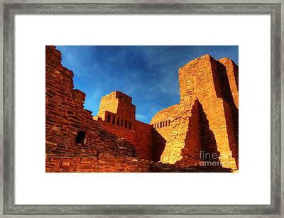 Salinas Pueblo Abo Mission Golden Light Framed Print by Bob Christopher