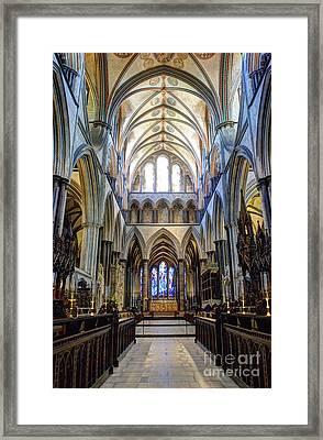 Salisbury Cathedral Framed Print by Juli Scalzi
