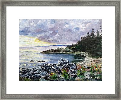 Salisbury Cove Framed Print by Lee Piper