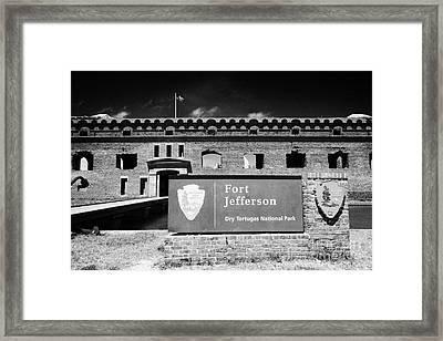 Sally Port Entrance To Fort Jefferson Dry Tortugas National Park Florida Keys Usa Framed Print by Joe Fox