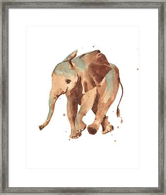 Sally Softly Elephant Framed Print by Alison Fennell