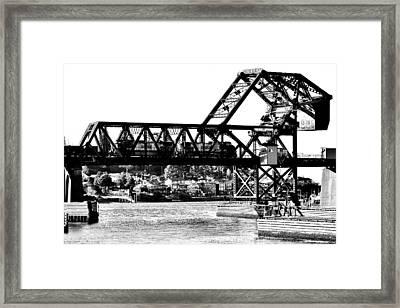 Salmon Bay Bridge Framed Print by Benjamin Yeager