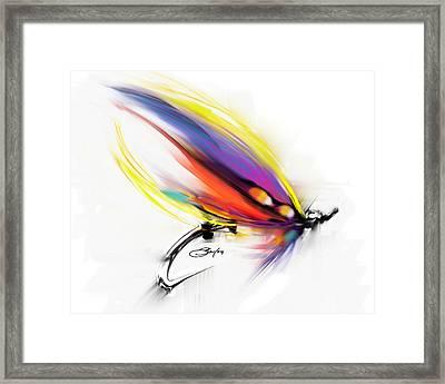 Salmon Fly Pattern Art - Savlen Special Framed Print by Savlen Art