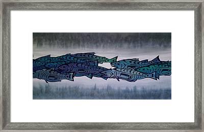 Salmon Passing Framed Print by Carolyn Doe