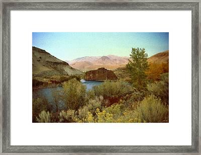 Salmon River Idaho - Landscape Painting Art Framed Print by Art America Online Gallery