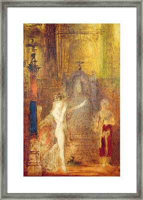 Salome Dancing Before Herod Framed Print by Gustave Moreau