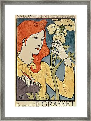 Salon Des Cent Framed Print by Eugene Grasset