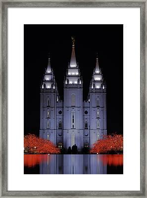 Salt Lake Christmas Framed Print by Chad Dutson