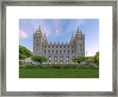 Salt Lake City Profile Framed Print by Dustin  LeFevre