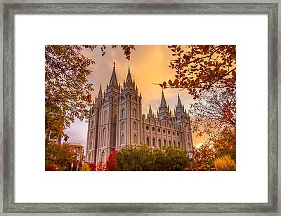 Salt Lake City Temple Framed Print by Emily Dickey