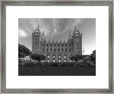 Salt Lake City Temple Profile Framed Print by Dustin  LeFevre