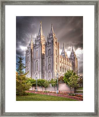 Salt Lake Temple Framed Print by Niels Nielsen