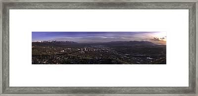 Salt Lake Valley Framed Print by Chad Dutson