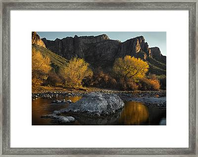 Salt River Fall Foliage Framed Print by Dave Dilli