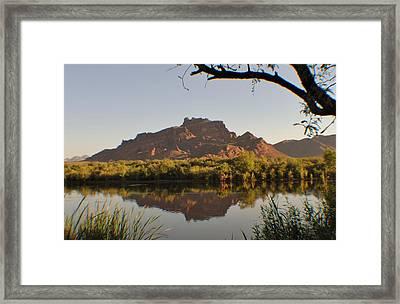 Salt River Reflections Framed Print by Edward Curtis