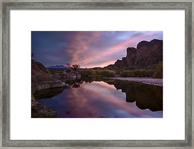 Salt River Sunrise 2 Framed Print by Dave Dilli