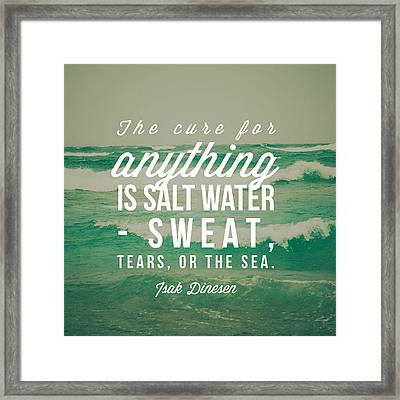 Salt Water Cure Framed Print by Joy StClaire