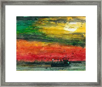 Salt Water Framed Print by R Kyllo