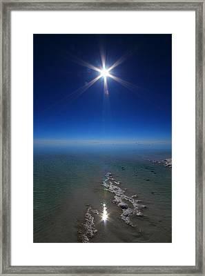 Salty Sun Framed Print by FireFlux Studios