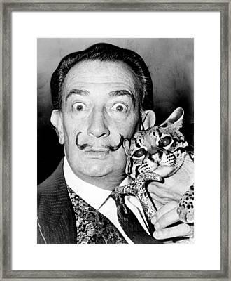 Salvador Dali Framed Print by Roger Higgins