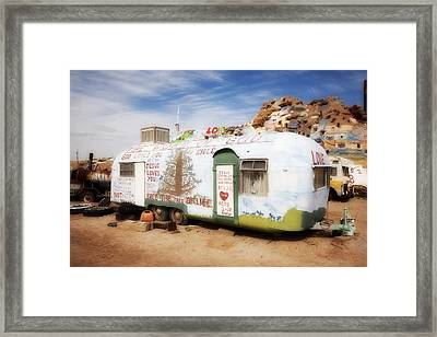 Salvation Trailer Framed Print by Hugh Smith