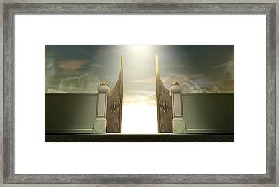 Salvations Open Gates Framed Print by Allan Swart