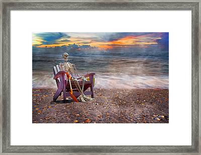 Sam And His Favorite Adirondack Framed Print by Betsy C Knapp