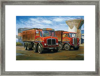 Sam Andersons Aec Tippers. Framed Print by Mike  Jeffries