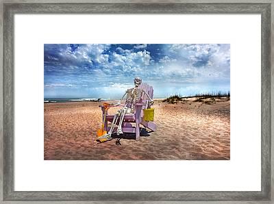 Sam Discovers Bald Head Island Framed Print by Betsy C Knapp