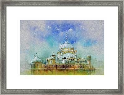Samadhi Ranjeet Singh Framed Print by Catf