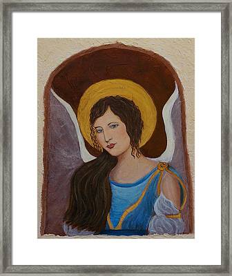 Samantha An Earthangel Framed Print by The Art With A Heart By Charlotte Phillips