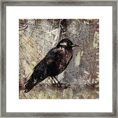 Same Crow Different Day Framed Print by Carol Leigh