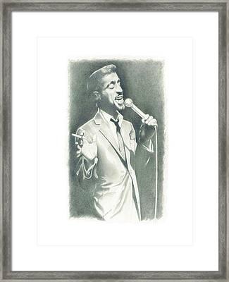 Sammy Davis Jr Framed Print by Gordon Van Dusen