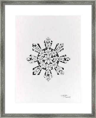 Sampaguita Sun Framed Print by Lyn Pacificar