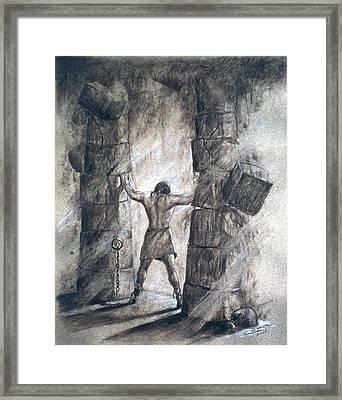 Samson Framed Print by Cati Simon