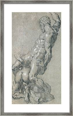 Samson Killing The Philistines Framed Print by Jacopo Robusti Tintoretto