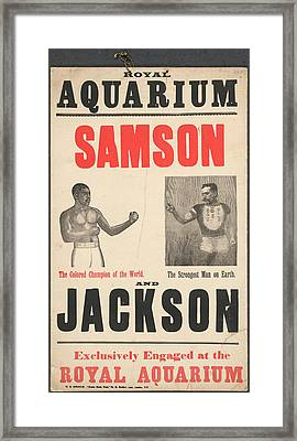 Samson V Jackson Framed Print by British Library