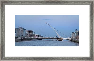 Samuel Beckett Bridge Dublin Ireland Framed Print by Betsy C Knapp