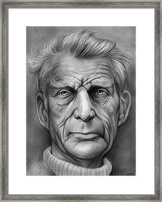 Samuel Beckett Framed Print by Greg Joens