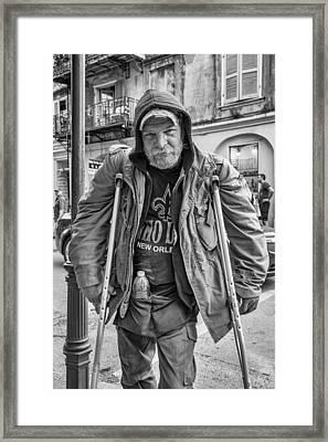 Samuel Bw Framed Print by Steve Harrington
