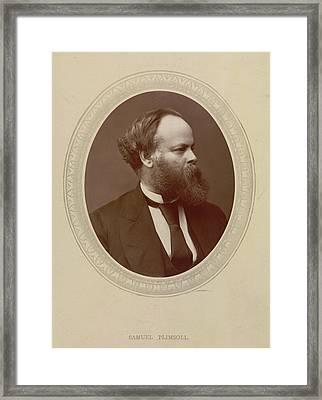 Samuel Plimsoll Framed Print by British Library