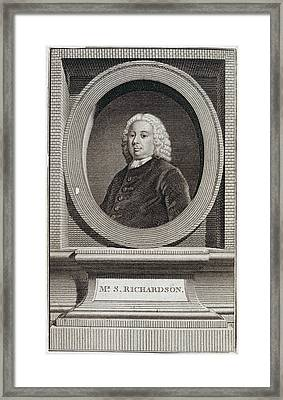 Samuel Richardson Framed Print by British Library