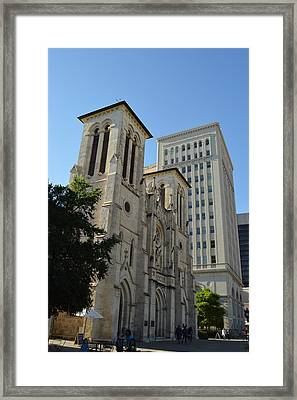 San Antonio Church 04 Framed Print by Shawn Marlow
