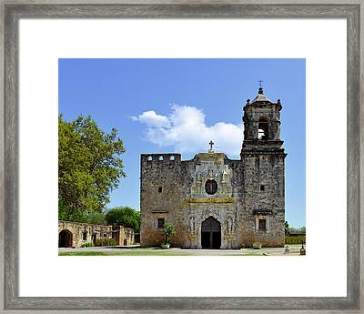 San Antonio Church Mission San Jose Framed Print by Christine Till